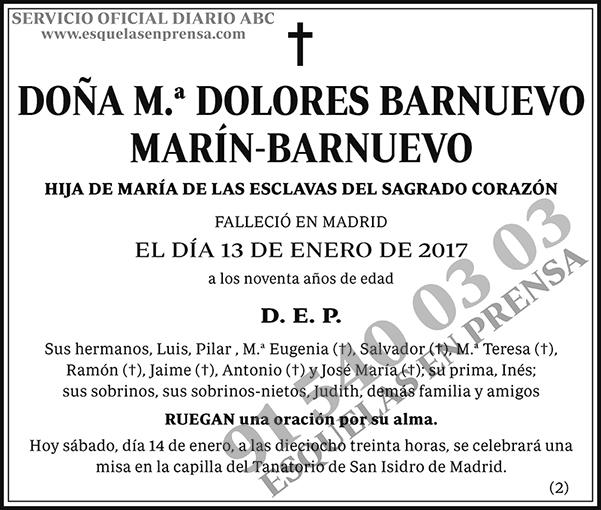 M.ª Dolores Barnuevo Marín-Barnuevo